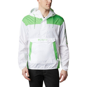 Columbia Challenger Windbreaker Jas Heren, white/green boa